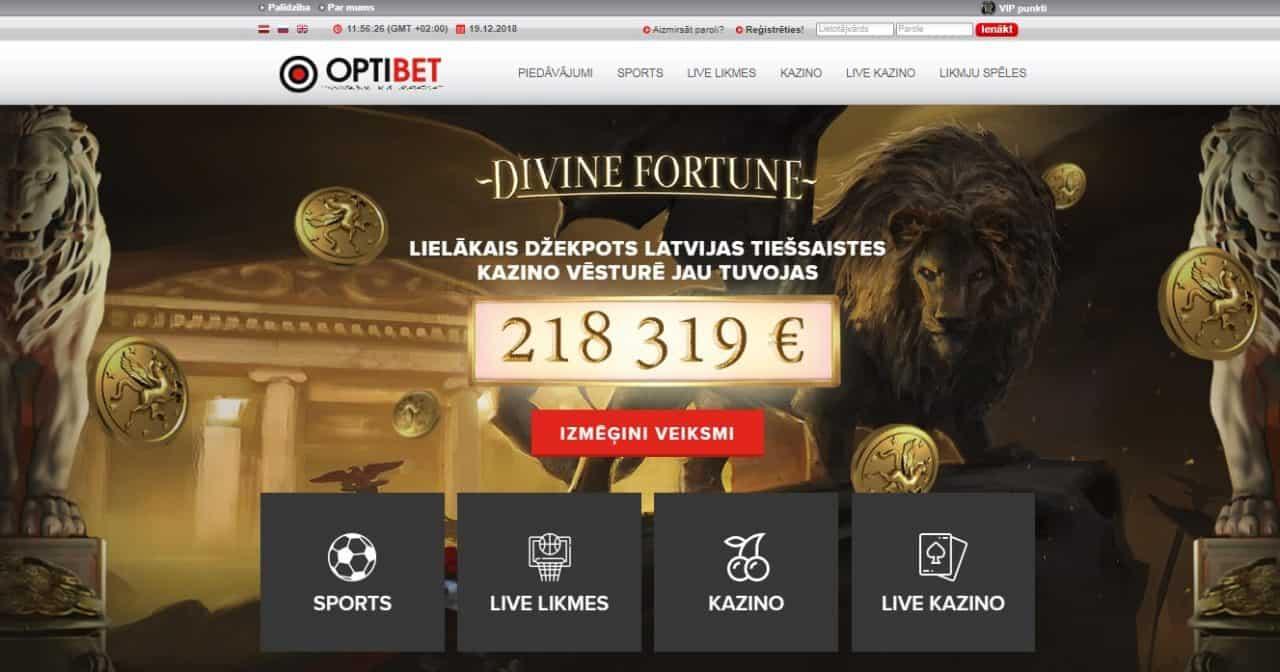 Optibet kazino mājaslapa