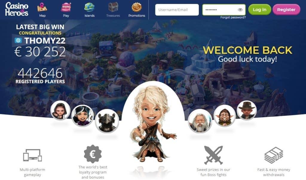 Casino Heroes mājaslapa kazino karalis