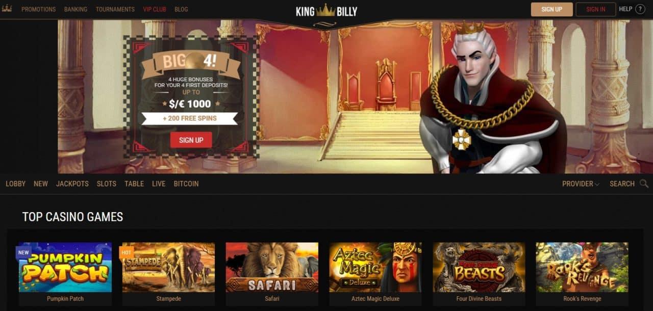 King Billy online kazino