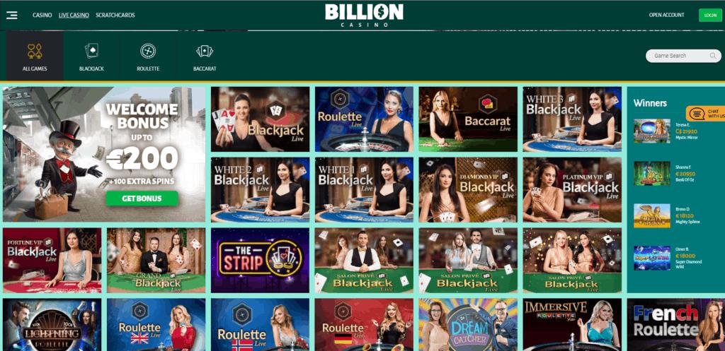 Billion Casino Live