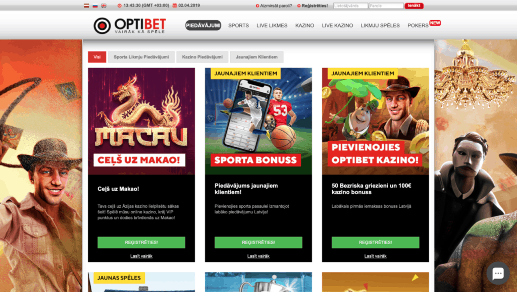 optibet licencētie online kazino