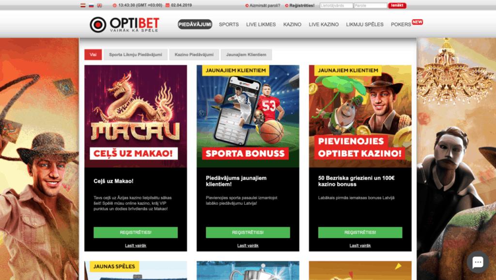 Optibet - Latvijas online kazino