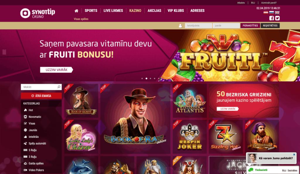 synotip licencētie online kazino