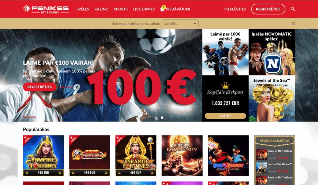 Fenikss - Latvijas online kazino