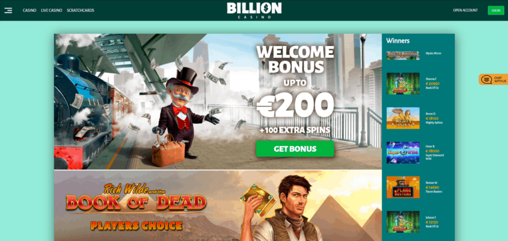 биллион казино бонус