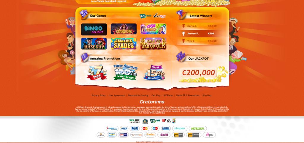 Gratorama online kazino