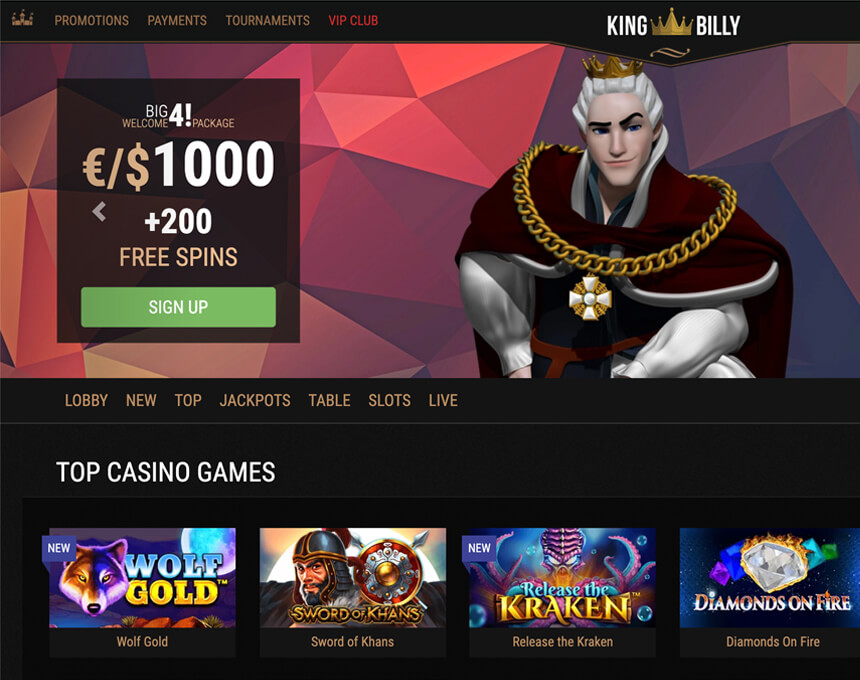kingbilly kazino apskats