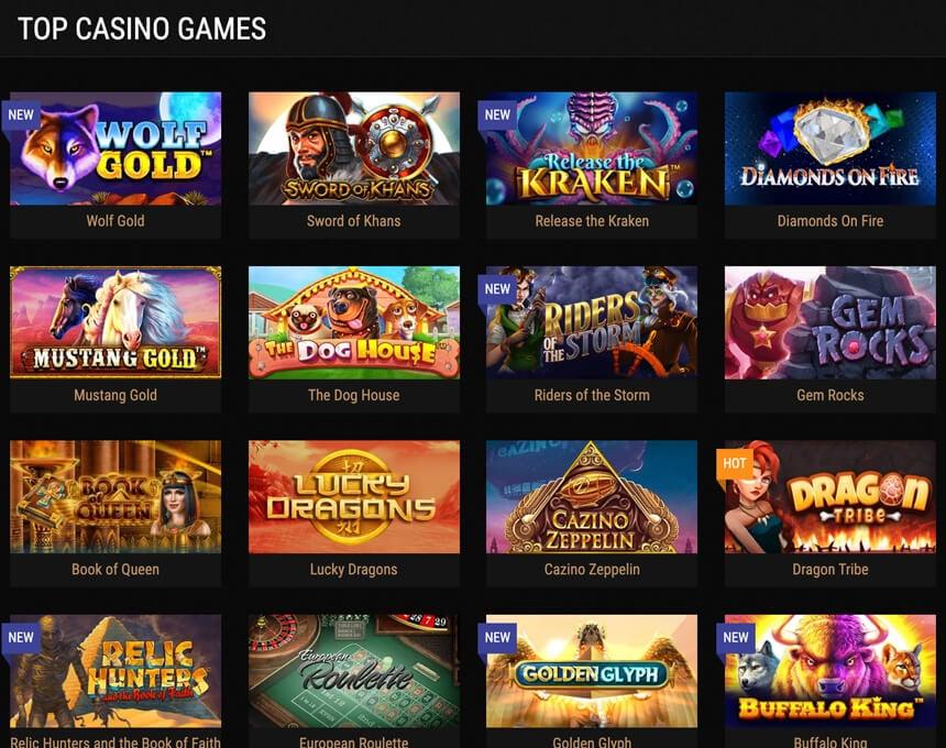 kingbilly kazino spēles
