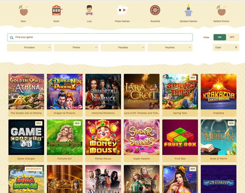 paradise kazino