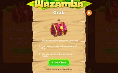 Wazamba bonuss