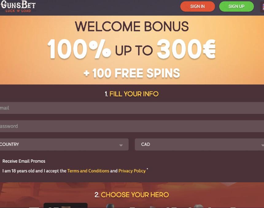 Gunsbet iepazīšanās bonuss