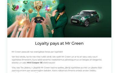 Mr Green bonuss