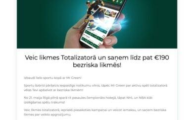 Mr Green totalizators
